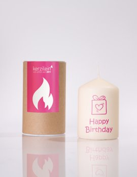 Flämmchen Happy Birthday Paket pink